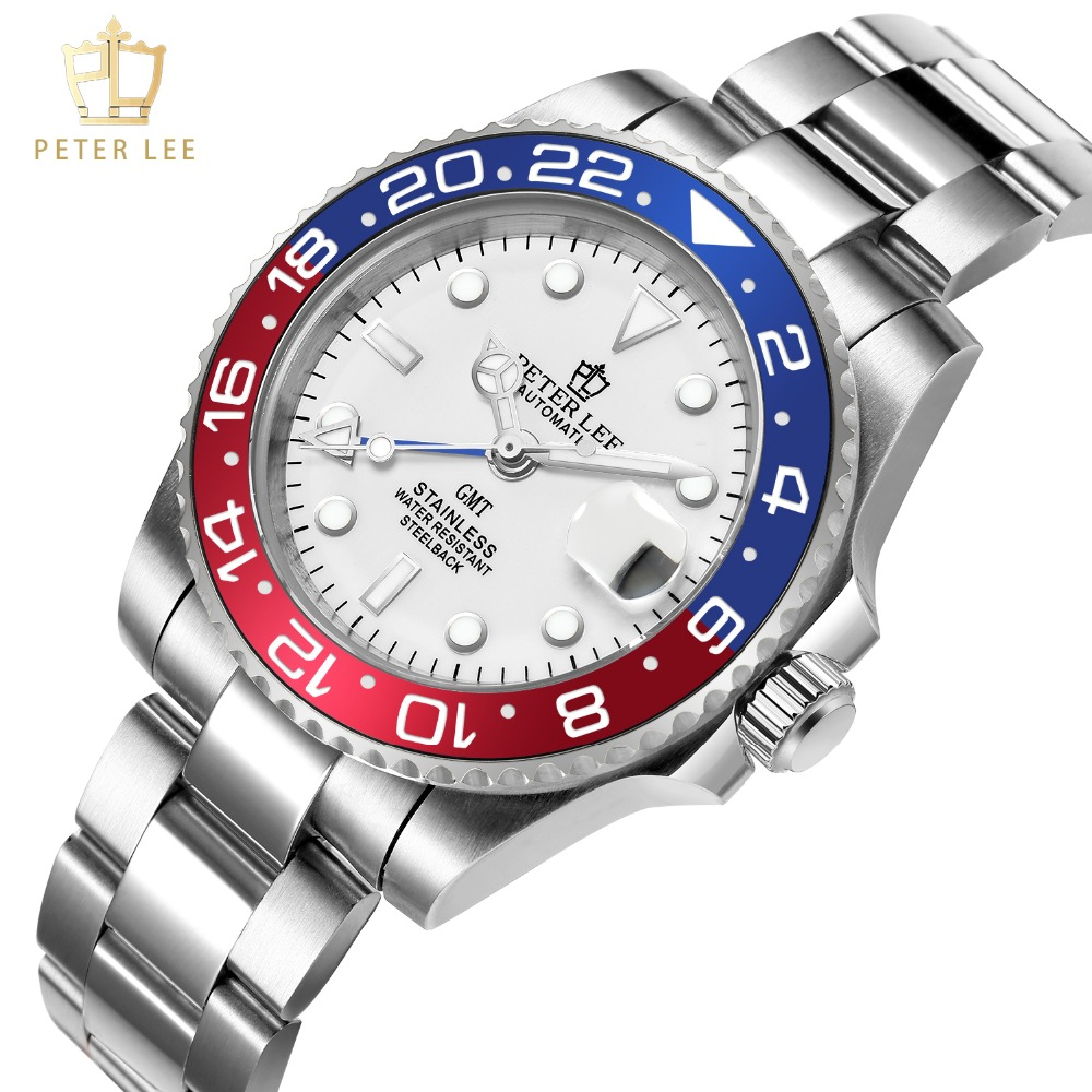 H970a29fae6174c4ba5230b5372470781T Best Watches For Men   PETER LEE Automatic Watch   Classic Ceramic bezel luxury daydate 40mm mechanical men watches noctilucous stainless steel rose gold men automatic watch