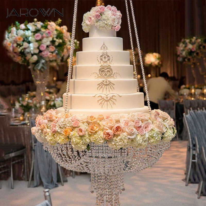Jarown Clear Crystal Chandelier Acrylic Style Cake Stand Wedding Cake Swing Wedding Arch Flower Stand Home Party Decoration Aliexpress