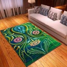Nodic 3D Print Abstract Flower Carpet Soft Modern Anti-slip Large Floor Mat Bedroom Table Area Rug for Living Room Decor