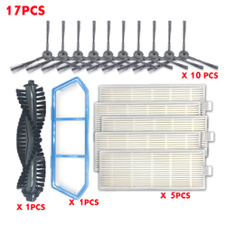 17PCS robot vacuum cleaner main brush filter kit for ilife brush ilife hepa filter A4S parts as seen on tv dust cleaning sweeper