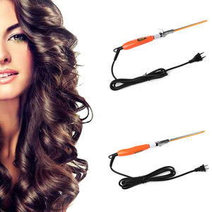 9mm 360° Rotating Electric Hair Salon Curler Tool Ceramic Curling Iron Wand Hair Modeling Styler