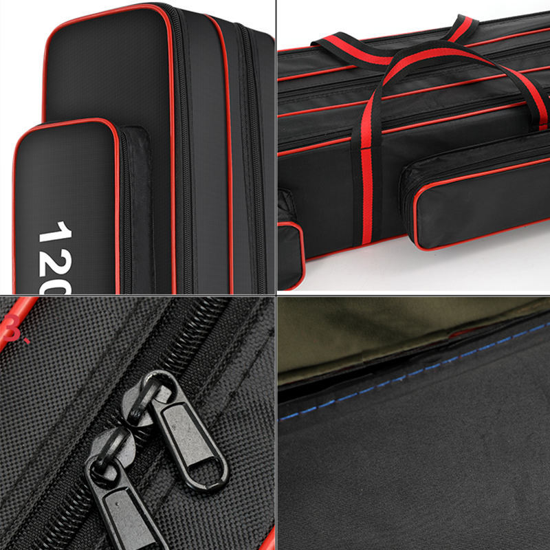 Image 5 - 120cm Nylon Fishing Bag Outdoor Multifunctional Fishing Rod Pole Lure Storage Bag Fishing Tackle  Storage Pouch Holder XA141GFishing Bags   -