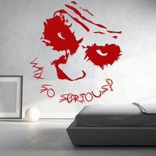 Joker Why So Serious Batman Dark-Knight Wall Sticker Vinyl Home Decor Superhero Teen Room Boy Bedroom Decals Murals Pattern A353 fvip new arrival dc comics wallet the dark knight batman the joker why so serious and harley quinn short wallet dollar price