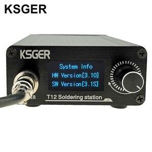 Image 2 - KSGER Estación de soldadura de hierro T12, STM32, V3.1S, OLED, bricolaje, plástico, FX9501, mango, herramientas eléctricas, calentamiento rápido, T12, puntas de Hierro 8s