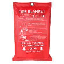 Sealed-Fire-Blanket FIRE-SHELTER Boat Safety-Cover Fighting Emergency-Survival ZK40 1m-X-1m