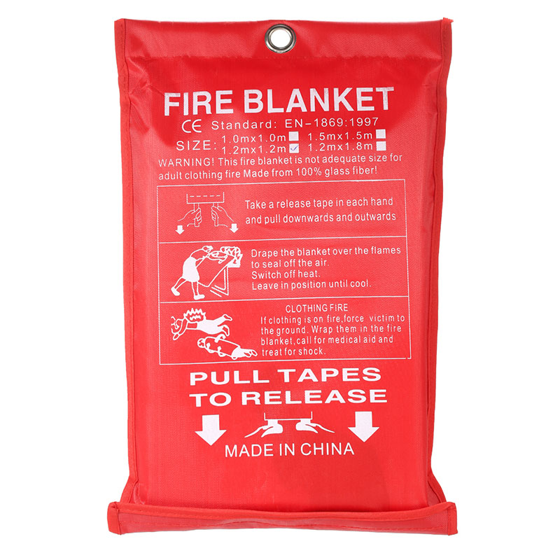 ZK40 2M x 2M Sealed Fire Blanket Home Safety Fighting Fire Extinguishers Tent Boat Emergency Survival Fire Shelter Safety Cover
