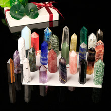 1PC High quality crystals hexagon pillar crystal point fluorite obsidian rose quartz labradorite home modern decoration gift