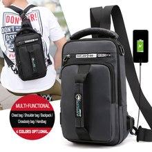 2019 OZUKO New Multifunction Crossbody Bag for Men Chest Pack Sling&Double Shoulder Male Waterproof Short Trip Messenger