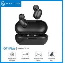 Haylou fones de ouvido gt1 plus aptx, fones auriculares, 3d, som real, sem fio, bluetooth 5.0