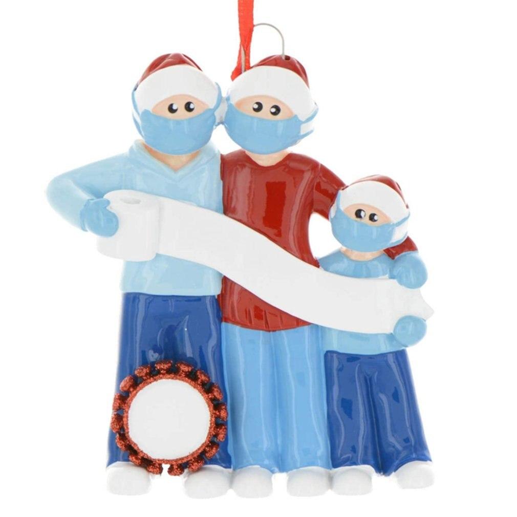 Купить 2020 карантин персонализированные рождественские украшения пластиковая