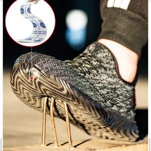 Image 2 - Chống Đập Phá Nam Thép Bảo Vệ Ngón Chân Mũ Giày Cho Nam Lớp Lưới Nhẹ Thoải Mái Chống Đâm Thủng công Việc Giày