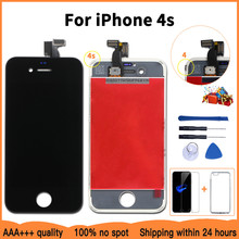 AAA+++LCD Display For iPhone 7 8 6S Plus Touch Screen Replacement For iPhone 5 5C 5S SE No Dead Pixel+Tempered Glass+Tools+TPU