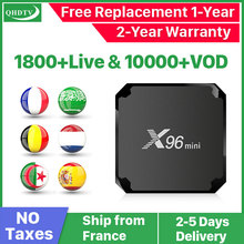 цена на X96 MINI IPTV France Box Android 7.1 S905W France Arabic IPTV QHDTV Subscription 1 Year Spain Belgium IPTV French IP TV X96mini