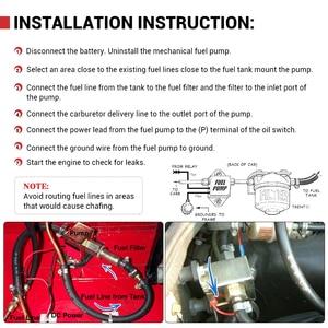 Image 5 - Universal 12v eletrônico bomba de combustível em linha 4 7psi alta pressão 90lph gasolina gás diesel compatível 40104 40106 40107 p502