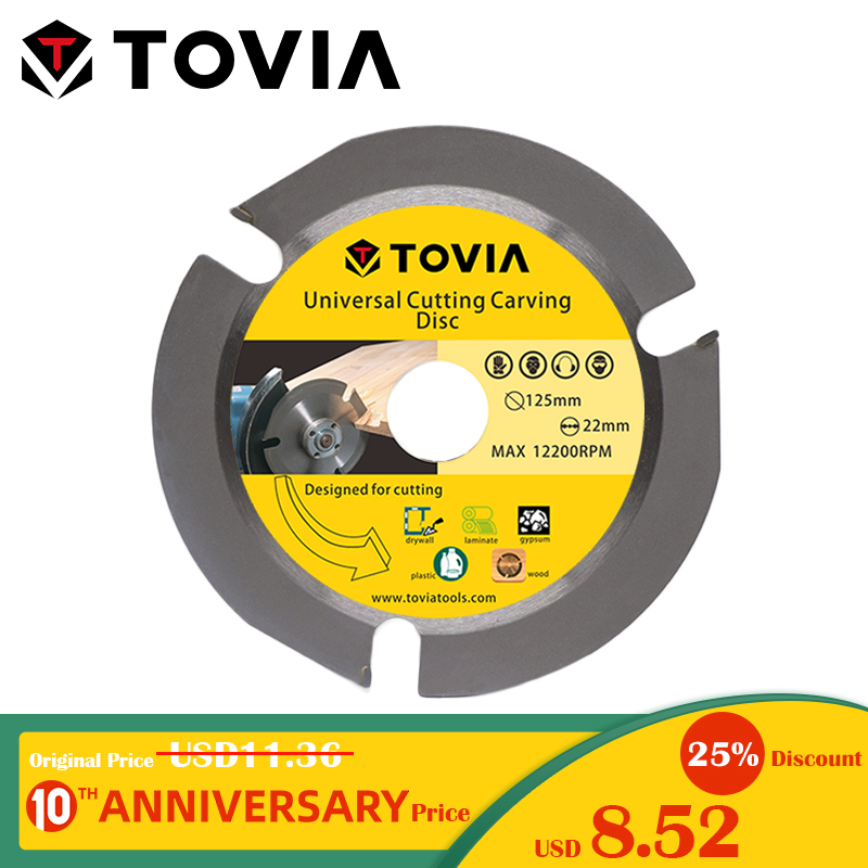 TOVIA 125mm Circular Carbide Saw Blades Cutting Wood For Angle Grinder Saw Disc Wood Cutter Saw Blade For Cutting Wood Multitool