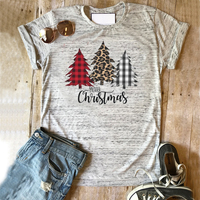 Christmas Tree Shirts Women Vintage Plus Size Korean Clothes Punk Tee Print 2018 Graphic Tees Woman Harajuku Tops