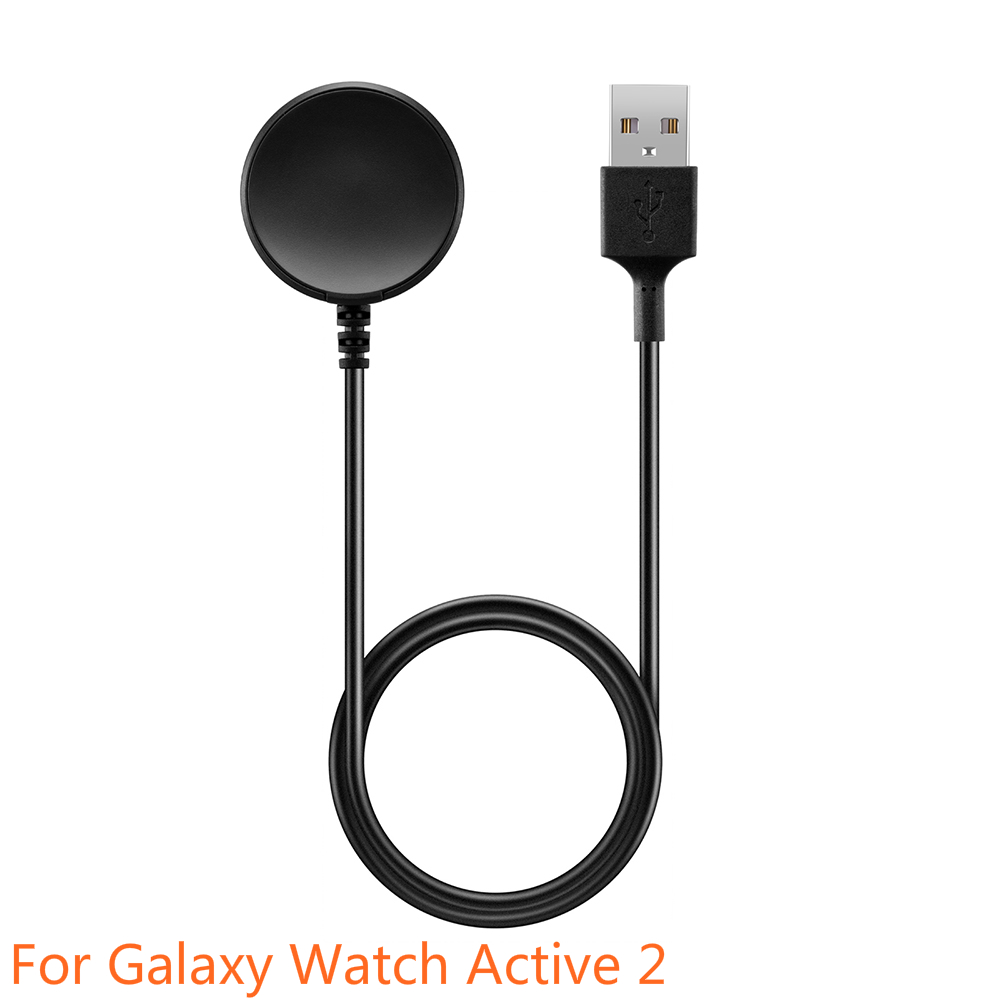 1M Fast Charger Cable For Galaxy Watch Active 2 USB Charger Dock Wireless Charger Cradle Base Station Smart Watch Accessories
