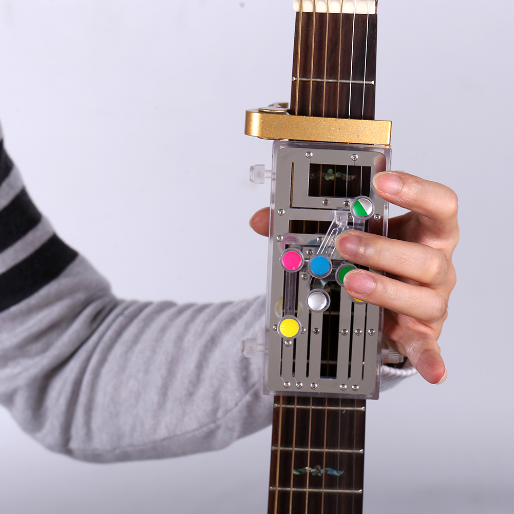 Acoustic Guitar Chord Buddy Teaching Aid Guitar Tool Guitar Learning System Practrice Aid With 6 Universal Chords