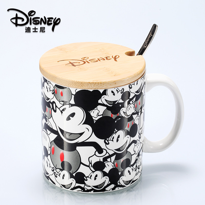500ml Disney Mickey Minnie Water Cup Coffee Milk Tea Ceramic Mug Home Office Collection Cups Valentines Day Women Girl Gifts