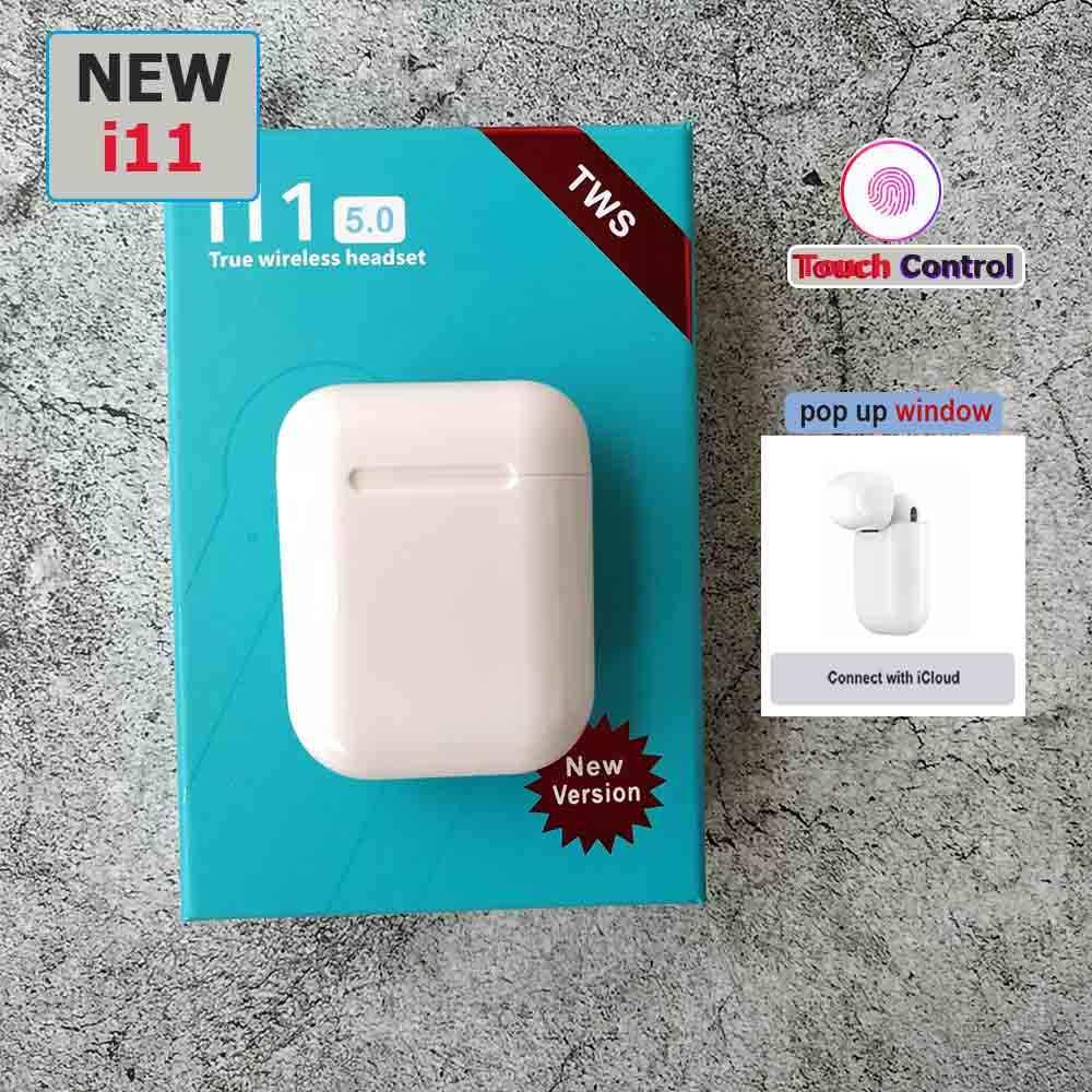 Oryginalny pop-up i11 i18 TWS bezprzewodowy zestaw słuchawkowy Bluetooth 5.0 ekran dotykowy super douszne słuchawki basowe stereo PK i10 i12 tws dla Apple iPhone samsung ucha