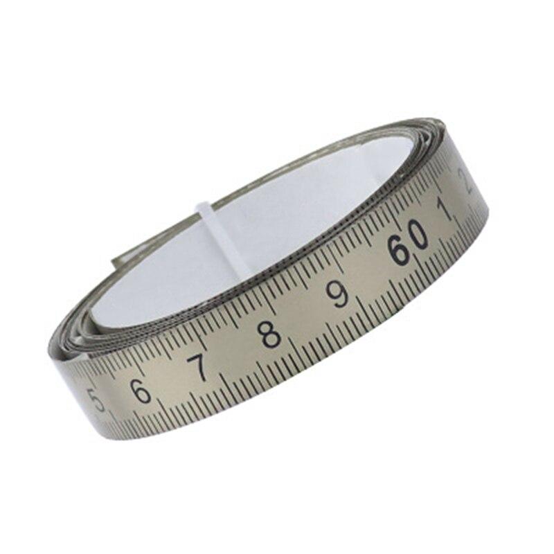 Saw Ruler Machine Waterproof Miter Sewing Metric 1/2/3 M Tape Stainless Steel Self-adhesive