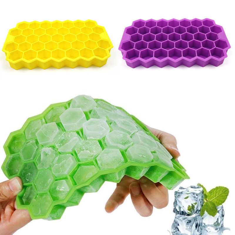 37 würfel Formen Silikon Ice Cube Honeycomb Ice Cube Maker Form für Eis Partei Kaltes Getränk Cocktail Whisky Popsicle formen