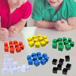20 pçs 16mm dice canto quadrado dados em branco diy dados graváveis 6 lados poker jogo de tabuleiro dados de jogo de jogo de jogo de tabuleiro de ensino
