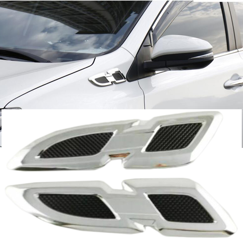 For <font><b>Toyota</b></font> New <font><b>RAV4</b></font> RAV 4 2016 2017 <font><b>2018</b></font> ABS chrome Front Side Fender Vents Air Outlet lamp trim Side AC Cover Auto <font><b>Accessories</b></font> image