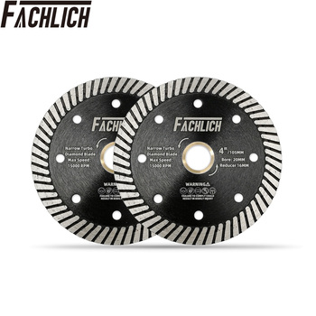 FACHLICH 2pcs Diameter 4/105mm Hot Pressed Diamond Turbo Saw Blade for Hard Material Marble Granite Cutting Disc Cutter
