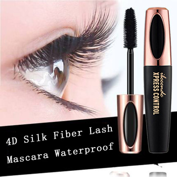 Waterproof 4DSilk Fiber Eyelash Thick Lengthening Black Mascara Fashion Sexy Makeup Cosmetics Eye Lash Extension Cream Eyelashes
