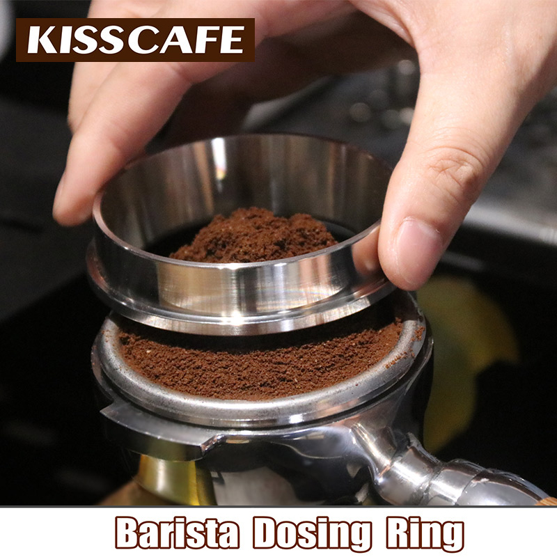 51/53/57.5/58/58.35 Mm Stainless Steel Cerdas Dosis Cincin Pembuatan Bir Mangkuk Bubuk Kopi untuk espresso Barista Corong Portafilter