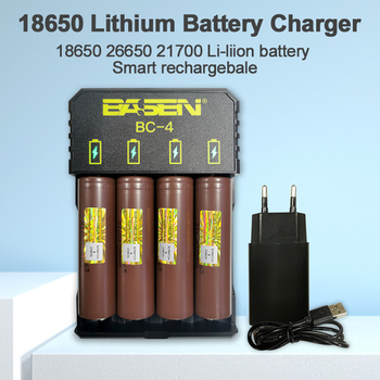 Lithium Battery Charger for 18650 26650 21700 Rechargeable Battery Smart Charger EU USB cable Li-liion 18650 battery Charger