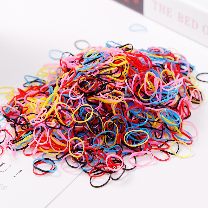 1000PCS/Lot Disposable Gum For Hair Children TPU Rubber Bands Ponytail Holder Elastic Hair Band Girls Scrunchie Hair Accessories