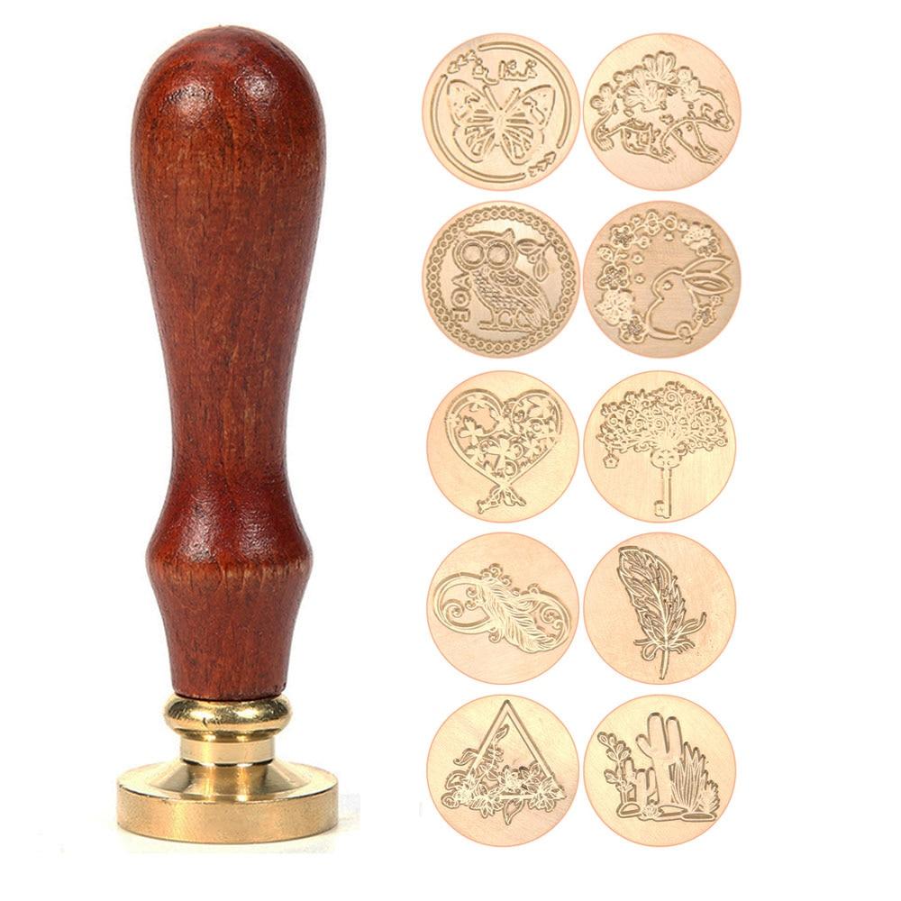 Bronze 5Pcs Seal Stamp Wax Sticks Manuscript Sealing Wax for Vintage Birthday Wedding Invitation Cards 10 Colors