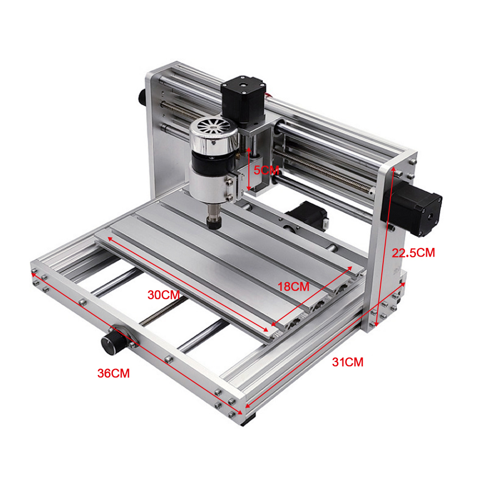 CNC 3018 pro Laser Engraving Machine with 200W Spindle and 3 Axis Rotation for PCB/PVC/WOOD/METAL 3