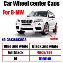 4pcs 68mm 10 pinos Tampas de Aro de Carro Do Centro de Roda Hub caps emblema do Emblema Do Logotipo Para BMW E90 F10 F30 E63 F15 E64 E65 E86 E89 E85 E92 E91 E93 F02