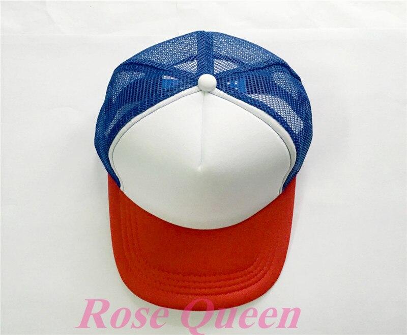 New Stranger Things Drama Dustin Cap Recover Cosplay Snapback Caps Baseball Mesh Net Trucker Hat Adjustable For Kids Adult Gift
