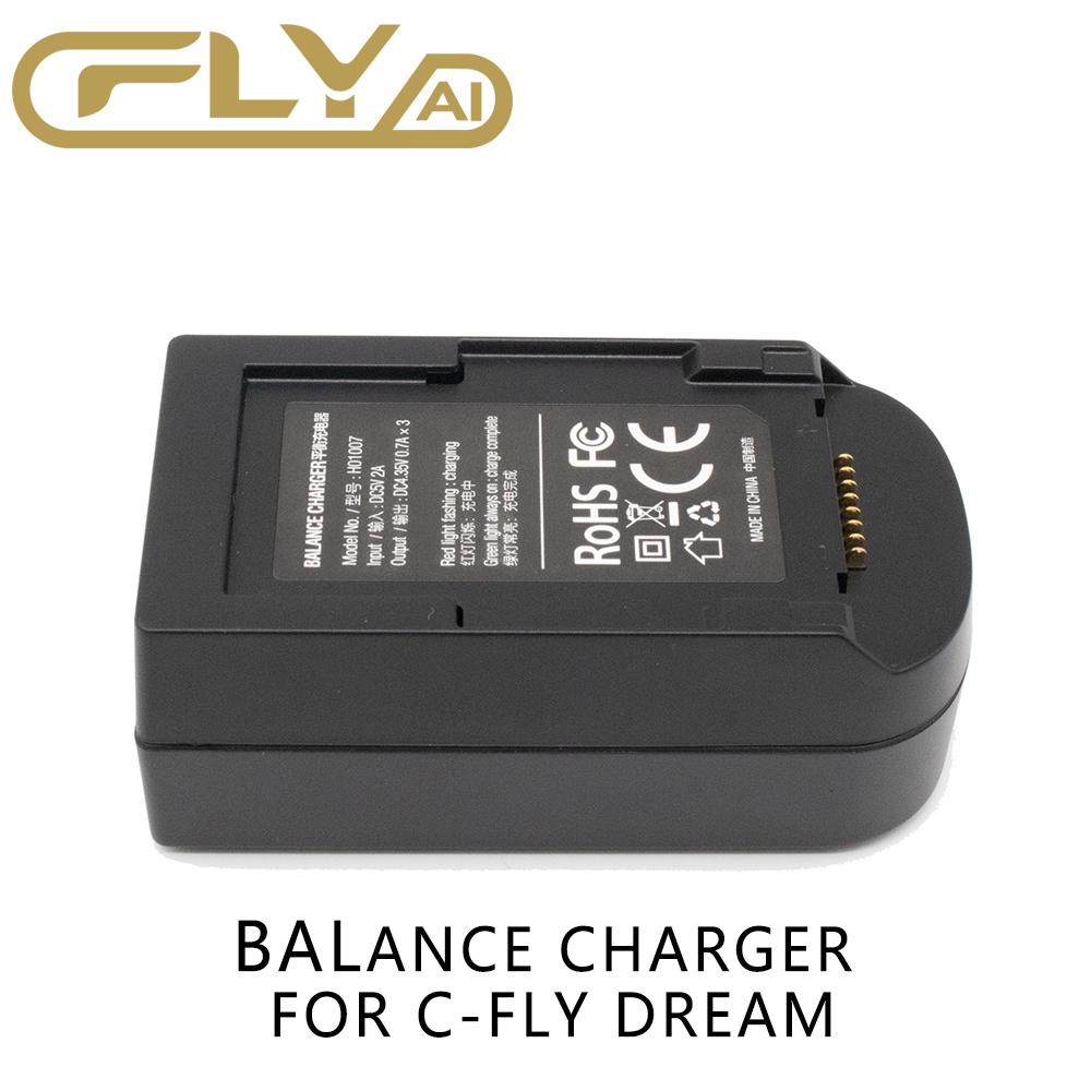 Balance Charger Set For CFLY Dream Quadcopter Drone Battery Kit Replacement Part H01007 For C-fly Dream D01008 Battery