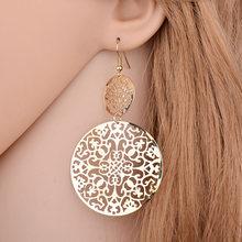 Модные Золотые круглые серьги кольца с кристаллами Эффектные