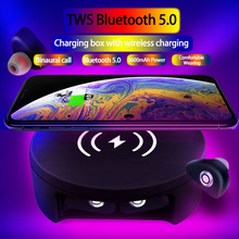 CALETOP Bluetooth 5.0 Earphone TWS IPX5 Waterproof Hifi Earbud with Mic Touch Control 2600mAh Charger Case Wireless
