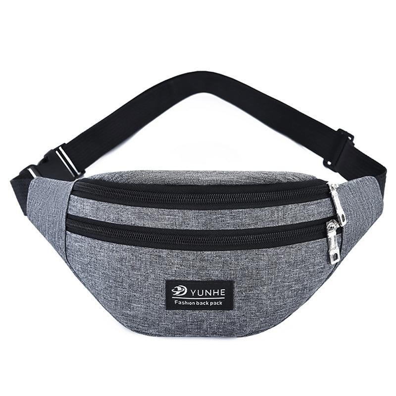 New Men Women Waist Fanny Pack Sport Travel Belt Zipper Waist Bag Casual Shoulder Crossbody Bag For Belt Unisex Hip Bag