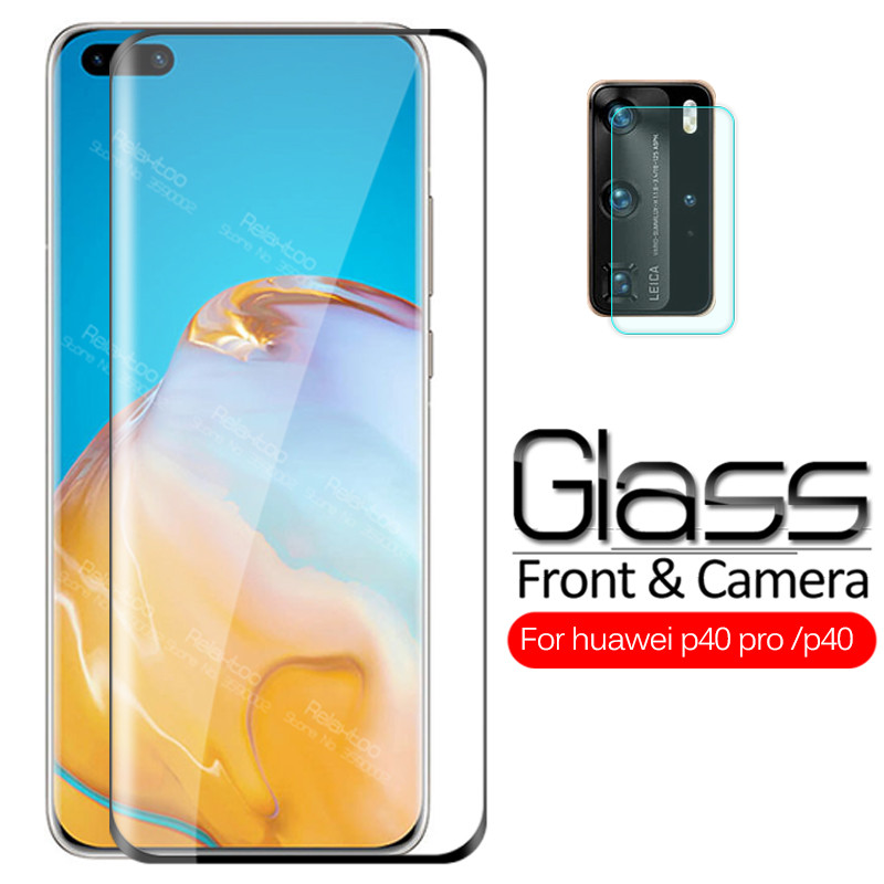 2 In 1 Camera Lens Tempered Glass For Huawei P40 Pro P 40 Pro 40pro P40pro 5G 2020 Safety Armor Screen Protector Protective Film