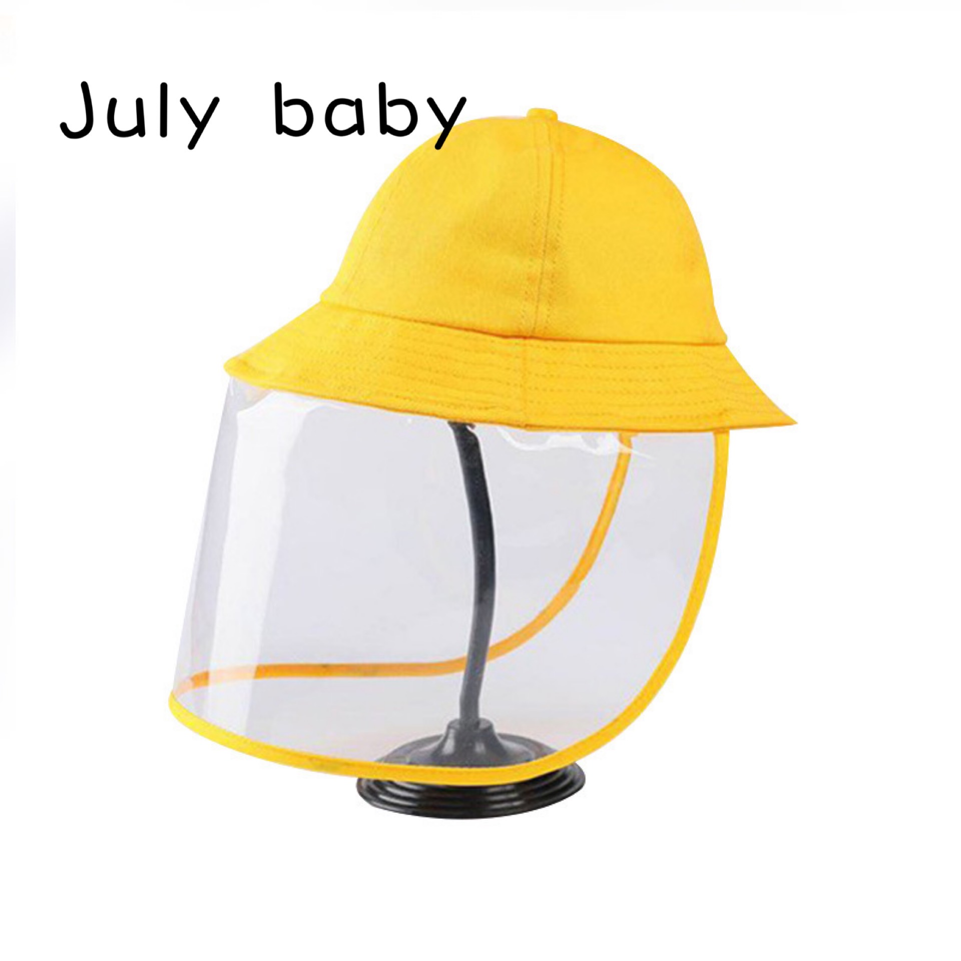 July Baby Spot Anti-splashing Water Spray Children Hat Full Face Protective Mask Children Fisherman Hat