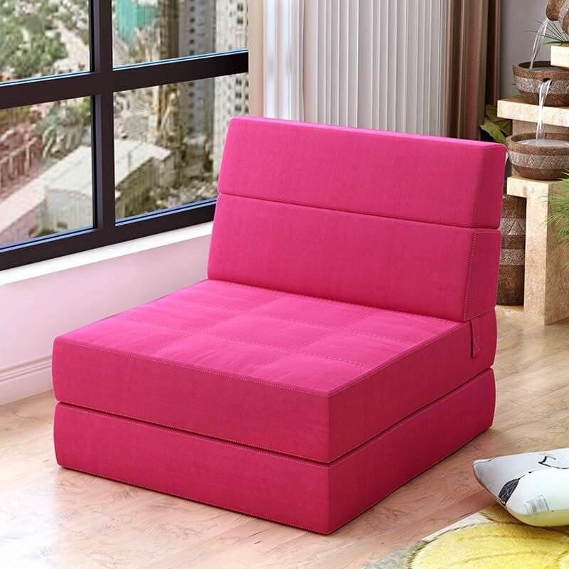 H1 Creative Single Lazy Sofa Single Folding Bed Recliner Personality Cute Tatami Sofa European Modern Sofa Daybed Cheap