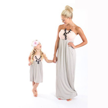 2019 PPXX Mom and Me Clothes Girl Women Dress Mother Daughter Dresses Wedding Party Beach Family Matching outfits Family Look summer brand rose flower mom baby girl holiday dress family look clothes bride evening party dress mother daughter beach dresses