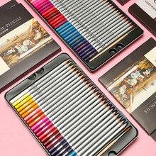 24/36/48/72 색상 학교 용품 오일 컬러 연필 세트 전문 아티스트 그림 스케치 컬러 연필 아이들을위한 선물