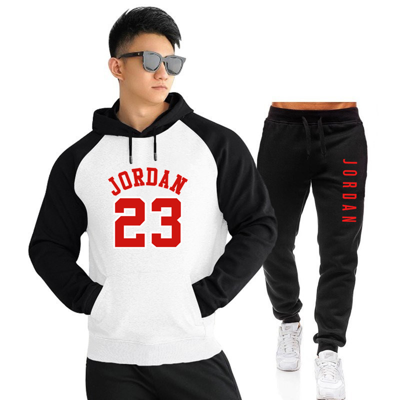 2020 NEW Tracksuit Men Sets Winter Hoodies Pants 2 Piece Set  Fashion Hoody Mens Sweatshirt Sport Joggers Sweatpants Suit