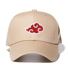 Dropshipping Cotton Japanese Akatsuki Logo Anime Naruto Dad Hat Uchiha Family Logo Embroidery Baseball Caps Khaki Snapback Hats