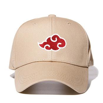 Dropshipping bawełna japoński Akatsuki Logo Anime Naruto tata kapelusz Uchiha rodzina Logo haft czapki z daszkiem Khaki czapki Snapback tanie i dobre opinie Dla dorosłych COTTON Unisex Jeden rozmiar Cartoon Regulowany Na co dzień BM025