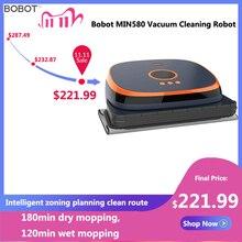 Bobot min580/590 robô de limpeza a vácuo varredura molhado seco esfregando mop inteligente piso auto tapete pet cabelo mais limpo 120 minutos